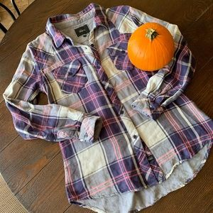 Rails Purple Plaid Top